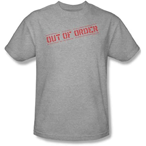 Out Of Order - adultos Heather manga corta T-shirt para hombres