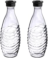 SodaStream DuoPack glass carafe 2 x 0.6 L, glass decanter.