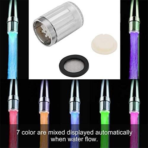 Lorenlli Sensore di Temperatura Creativo LED Light Water Faucet Tap Glow Lighting Doccia a spruzzo Rubinetto per Cucina Bagno
