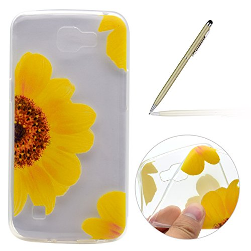felfy-funda-lg-k4-case-carcasa-ultra-fina-silicona-tpu-suave-gel-flexible-pintura-girasol-diseno-tra