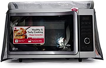 Aditya Accessories Microwave Oven Accessories From 21 To 24 Litres Oven: Fully Transparent Safety Covers With Dual Zipper With Hand Gloves