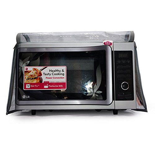 Aditya Accessories Fully Transparent Safety Microwave Oven Covers with Dual Zipper and Hand Gloves for 29-35L Ovens