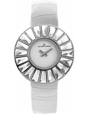Jacques Lemans Damen-Armbanduhr XS Flora Analog Leder 1-1639B