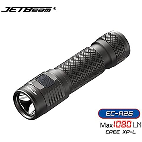 Apollo Sporting JETBeam ec-R26 cree xpl 1080lumens usb Mini ricaricabile LED torcia