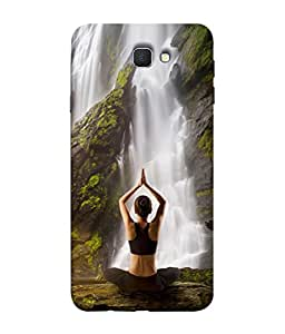 PrintVisa Designer Back Case Cover for Samsung Galaxy J7 Prime (2016) (Yoga By The Waterfall Lovely Design)