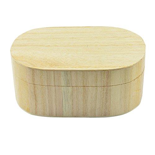 Homyl Ovale Form Holzkiste mit Deckel für Aufbewahrung Schmuckkasten Holzkästchen Schmuckkästchen Holzschatulle Holzbox zum Basteln Dekorieren