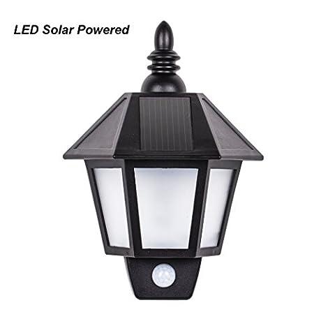 B-right LED Solar Wall Light, Waterproof Garden light, Retro Style