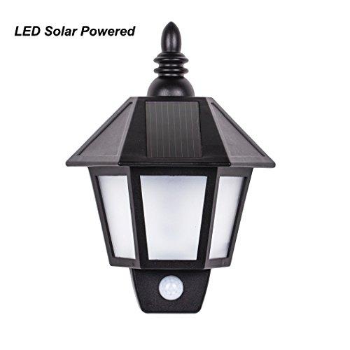 B-right LED Solar Lampe, Retro Wasserdicht Garten Lamp, Solarwand-Licht, PIR Menschliche Sensor-Leuchten,LED Solarleuchten Außenleuchte , für Plattform, Yard, Haus, Treppen, Patio, Garten, Auffahrt