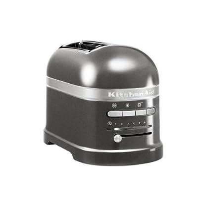 Kitchenaid-5KMT2204EMS-Artisan-Toaster-fr-2-Scheiben-Medaillon-silber
