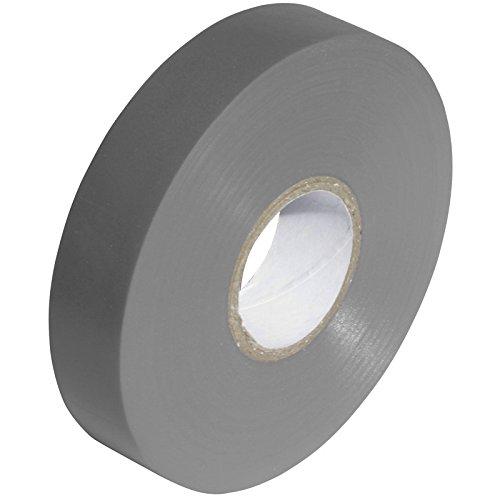 Premium argento/grigio–nastro isolante elettrico in pvc, 19mm x 33m–alta qualità–strong roll by gocableties