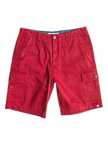Quiksilver, Pantaloni corti cargo Uomo Everyday, Rosso (Baked Apple), 38
