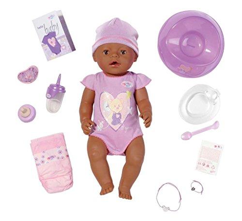 Zapf Creation 819210 - Baby born interactive ethnic Puppe (Chou Chou Puppe Zubehör)