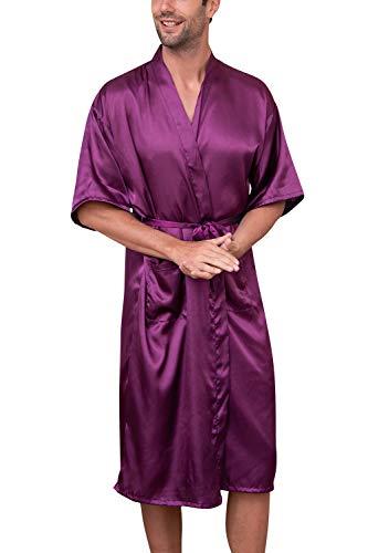 615595f95236 Offerte vestaglia da uomo in raso kimono pigiama satin camicia notte