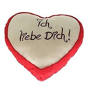 Krüger & Gregoriades 124360-Peluche Corazón Amor Corazones, 100cm, Color Rojo