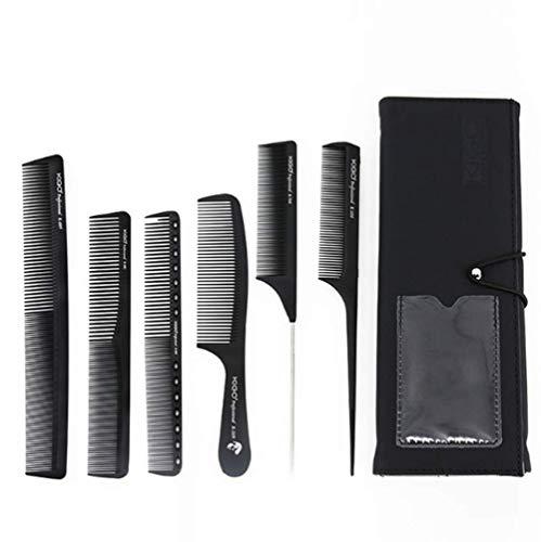 Orientale corridoio salone professionale taglio dei capelli pettine, stylist parrucchiere barbiere pettine parrucchieri, pettine in carbonio set 6pcs