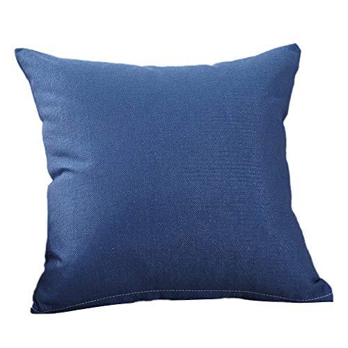 YI KUI Kissen- einfache Art und Weise Dekokissen Cases Cafe Sofa Kissenbezug Home Decor Geschenk Schlaf Spiele (blau, 50 * 50cm)