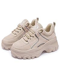Fondo Suela Gruesa Invierno Zapatos Plataforma Zapatillas de Las Mujeres Caliente Instructores macizos Pisos Corto Casual