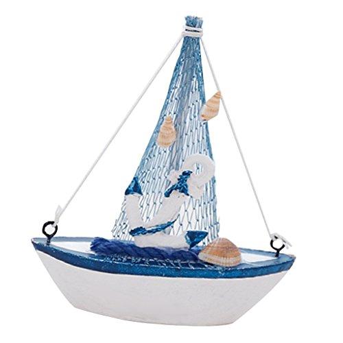 Gazechimp Retro-Holz-Mittelmeer-Stil Mini-Segelboot-Modell-nautischen Dekor - # 6