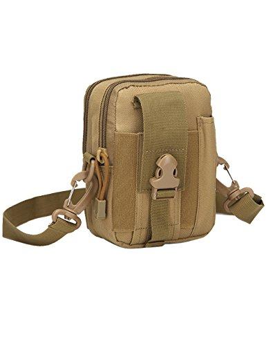 Menschwear Multipurpose Taktische Tasche Gürtel Taille Pack Tasche Military Taille Fanny Pack Telefon Tasche Gadget Geld Tasche Tarnung 6 Khaki
