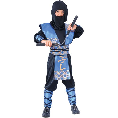 Dark Ninja Krieger Verkleidung für Jungs Fasching Karneval Halloween Kostüm L