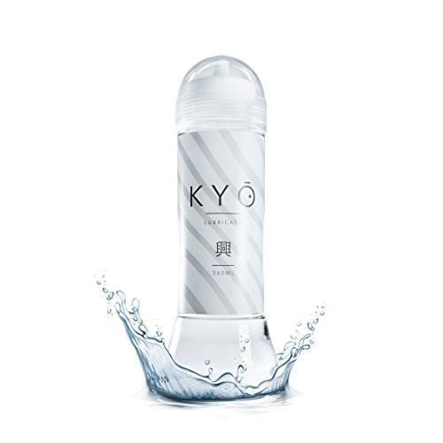 KYO Gleitgel wasserbasiert, XL Flasche mit 360ml, für Langzeit-Spaß, perfektes Gleitmittel auf Wasserbasis für Vaginal- und Anal-Verkehr