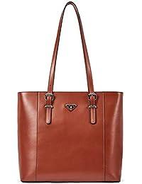9125e92ec946a BOSTANTEN Damen Leder Handtaschen Schultertasche Frauen Umhängetasche  Businesstaschen 14 16