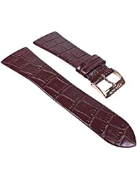 Police Skyline Ersatzband Uhrenarmband Leder Band Rotbraun/Kroko für PL10849MSBN PL13678BSR/04