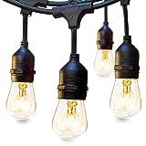 LED lichterkette außen Lichterkette Set 9 x E27 Fassung Lichtschnur Dekolampe 10m IP65 Wasserdicht Dekolicht für Haus Dekoration, Garten, Party, Hochzeit, Weihnachten, Feier(keine Birne enthält )