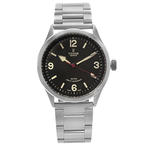 Tudor Heritage Ranger Negro Dial Acero inoxidable reloj para hombre 79910-bkasss