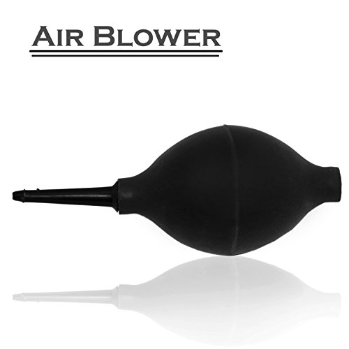 RiaTech-Rubber-Air-Pump-Cleaner-Dust-Blower-for-KeyboardDigital-SLR-Camera-Lens-Watch-Cell-Phone-Computer-Laptop-PC-and-Screen-Black