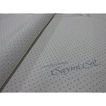 Metraje 0,50 mts tela etamín visillo cortinas Ref. Plumeti color Gris, con ancho 2,80 mts.