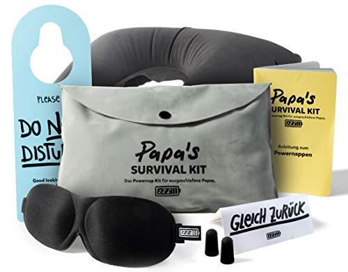 Papa's survival Kit - Das Powernap Kit Geschenk für ausgeschlafene Papas und werdende Väter!