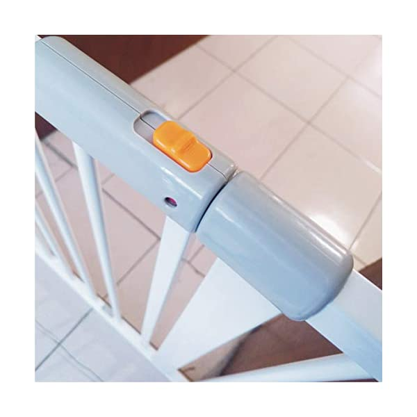 Child safety gate bar baby stair door pet dog fence indoor large dog stairs barrier fence AA-SS-Safety Door ♥Squeeze and lift handle for easy one handed adult opening ♥Quick-release fittings for removal when not required ♥Includes stop pins for mounting at the top of stairs 2