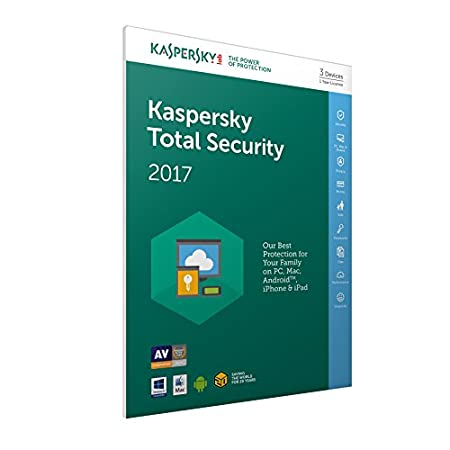 Kaspersky Total Security 2017 - 3 Devices, 1 Year,  FFP (PC/Mac/Android)