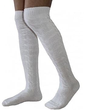 Extra Lange Trachtensocken Strümpfe Trachtenlederhose Socken Weiß