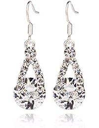 d02ab2552633 Beisoug Big Crystal Pendant Fashion Párrafo Largo Brillantes Pendientes  Colgantes