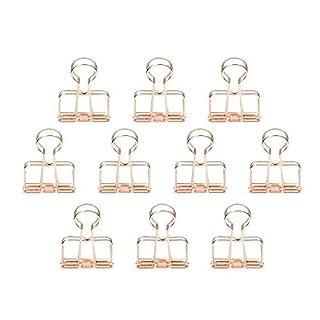 zonyeo 10 Stück Draht Binder Clips Stilvolle Metall Clips Draht Clip für Foto Wand Drahtgitter Display