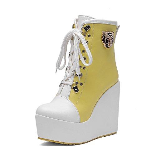A&N - Scarpe con plateau donna Yellow