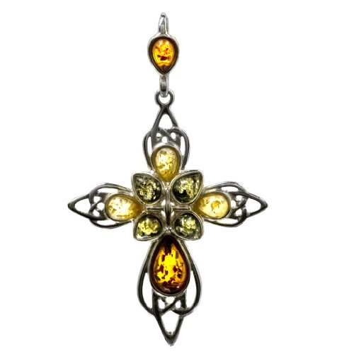 multicolor-amber-sterling-silver-large-cross-pendant