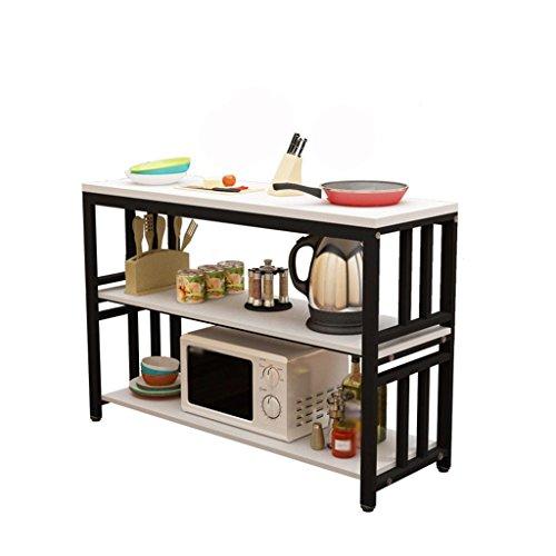 MFFACAI Küchenregal Lagerregal Küche Hacktisch Mikrowelle Ofen Regal Ofen Regal Heimkonsole Doppelschicht DREI Tabelle einfachen Tisch, New Two Layer 70 * 40 * 80 memo Color - 3 Regal-große Tabelle