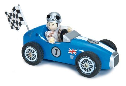 Le Toy Van - 12461 - Jouet Premier Age - La Voiture de Course - Bleue