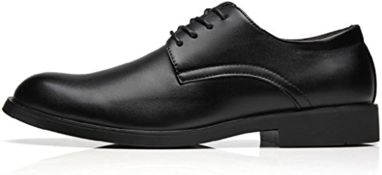 SHANGWU Herren Lederschuhe Jugend Business Kleid Herrenschuhe Low Cut Tooling Schuhe
