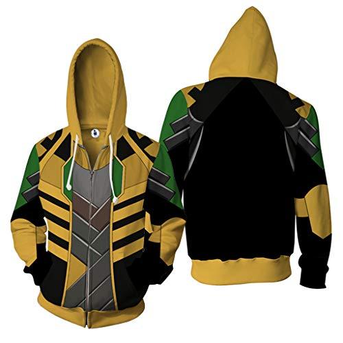 K-Flame 3D Digital Printed Hoodies Unisex mit Tunnelzug Kängurutasche Pullover Plus Size Design Sweatshirts Jugend Paare Geschenk Raytheon,Yellow,3XL
