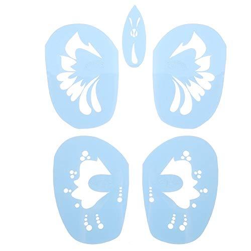 6 Styles/Set Face Paint Stencil wiederverwendbare Tattoo kosmetische Malwerkzeug