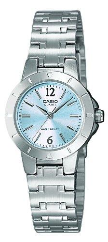 Casio Damen Analog Quarz mit Edelstahl Armbanduhr LTP 1177PA 2A (Uhren Casio Quarz)