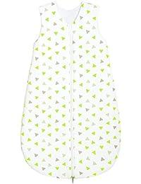 Odenwälder Basic Jersey-Schlafsack Sommer Dreiecke limette