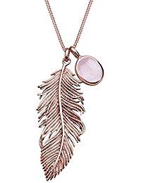 Elli - Collier - Femme - Argent - 925/1000 - Rosé Plaqué Or - Longueur 70 cm - 0112541114_70