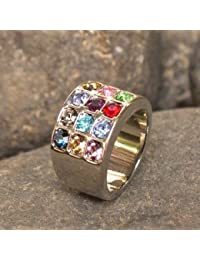 Hoshen Stones Judaica Ring Jewelry Israel Jewish Gift 12 Tribes Of Israel - PLEASE SEND A MESSAGE WITH REQUIRED SIZE