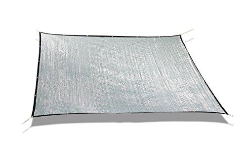 Laxllent Sonnensegel, Sonnenschutz Quadrat Markise Baldachin 70% UV-beständig Wasserdicht für Gartenfest mit freies Seil, (3 *3,silber)