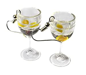 Gin and Tonic Glasses Earrings - G&T